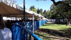 Long lines to get into Casa de Cultura - main venue.