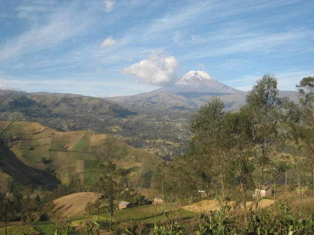View of Chimbo Valley & Chimborazo from Llullundongo