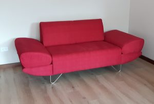 Red Love Seat with Attitude