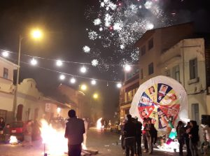 Barrio El Vado at Midnight: Fireworks and Burning Effigies
