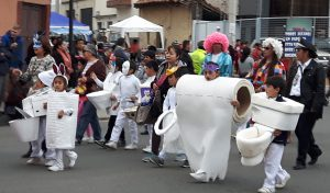 Dia de los Inocentes: Parade on Huayna Capac St -- Children in Bath Attire!