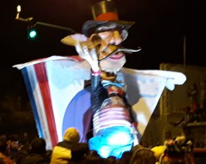 Dia de los Inocentes Parade: Uncle Sam